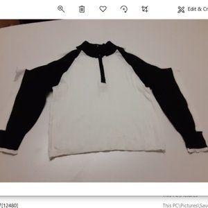 Ribbed half zip sweater